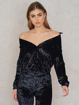 Rut & Circle Nataly Velvet Shirt svart