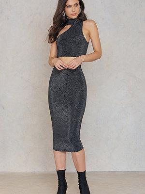 Rebecca Stella Glittery Midi Skirt