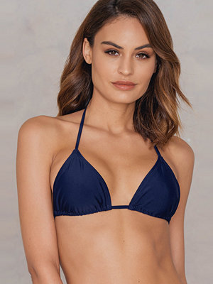 NA-KD Swimwear Triangle Bikini Top blå
