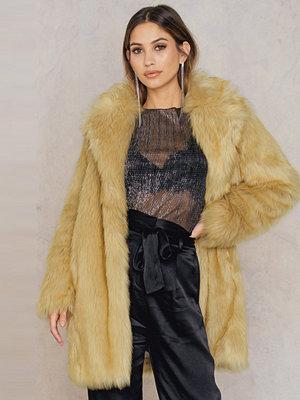 Rebecca Stella Long Faux Fur Jacket