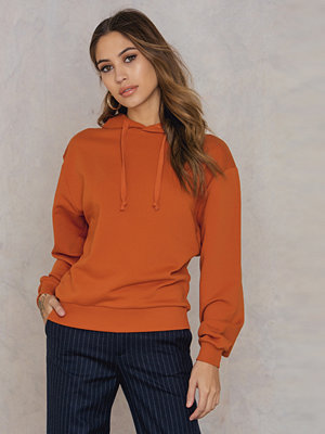 NA-KD Basic Basic Hoodie orange