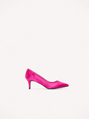 NA-KD Shoes Mid Heel Satin Pumps rosa
