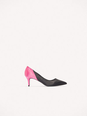 NA-KD Shoes Block Mid Heel Satin Pumps - Högklackat