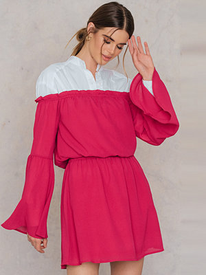 NA-KD Boho Wide Sleeve Off Shoulder Dress