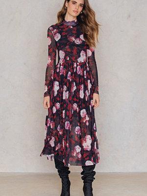 NA-KD Trend Mesh LS Midi Dress
