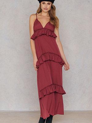 Boohoo Ruffle Strap Maxi Dress