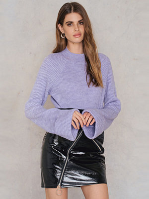 NA-KD Trend Diagonal Zip Patent Skirt