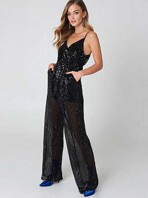 NA-KD Party Sequins Flared Legs Jumpsuit
