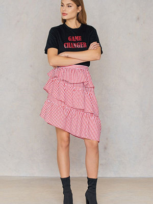 NA-KD Trend Triple Layer Gingham Skirt