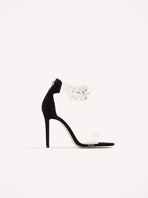 Boohoo Embellished Perspex Ankle Heel