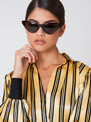 NA-KD Accessories Pointy Cat Eye Sunglasses brun