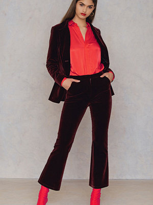 NA-KD Party Velvet Trousers - Kostymbyxor omönstrade