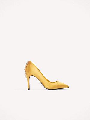 Pumps & klackskor - NA-KD Shoes Embellished Heel Satin Pumps