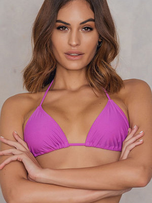 NA-KD Swimwear Triangle Bikini Top lila