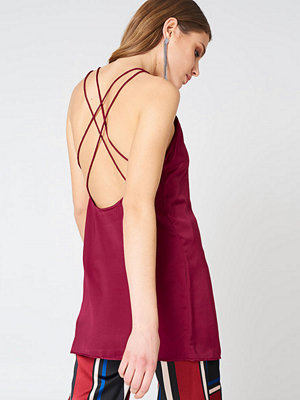 Motel Rocks Haute Slip Dress röd
