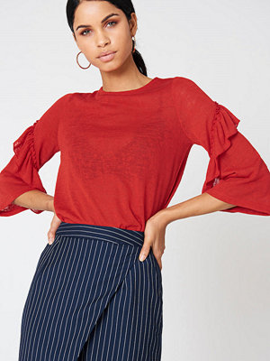 NA-KD Wide Sleeve Frill Detail Top