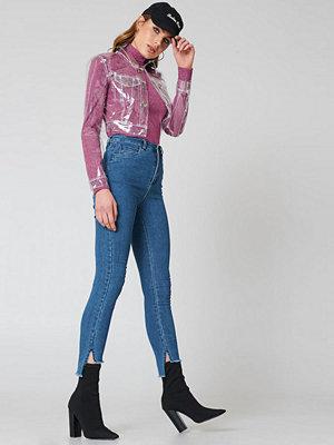 NA-KD Highwaist Skinny Raw Hem Jeans