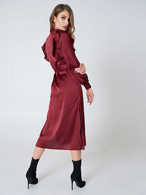 Hot & Delicious Button Up Satin Dress