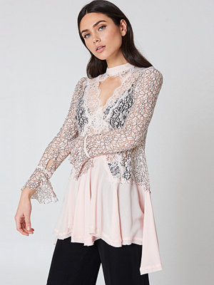 Free People New Tell Tale Lace Long Sleeve Tunic