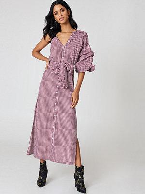 Hot & Delicious One Shoulder Gingham Dress