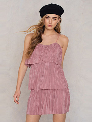 Boohoo Tie Pleated Dress