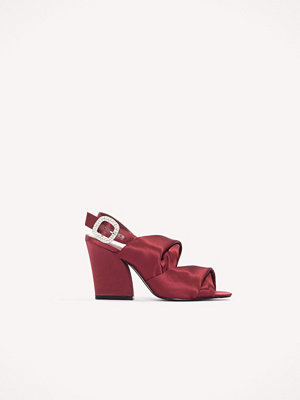 Pumps & klackskor - NA-KD Shoes Peep Toe Block Sandals röd
