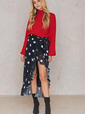 NA-KD Trend Mesh Overlap Maxi Skirt svart