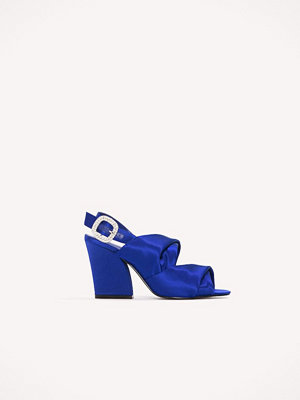 NA-KD Shoes Peep Toe Block Sandals blå