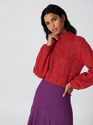 NA-KD Knitwear Sweater röd