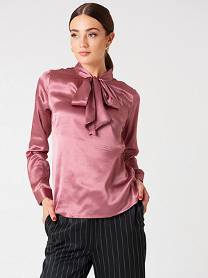 Rut & Circle Maya Satin Shirt rosa