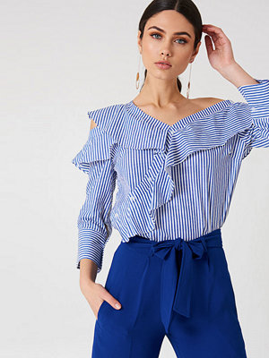 Hot & Delicious Cold One Shoulder Striped Top