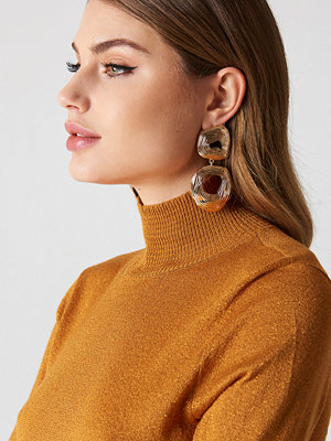Tranloev smycke Double Round Hanging Earrings guld