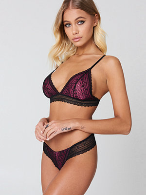 NA-KD Lingerie Colored Detail Lace Pantie