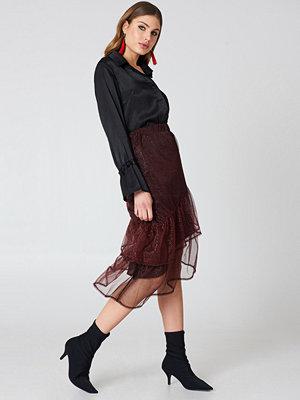 NA-KD Party Bottom Frill Glitter Skirt