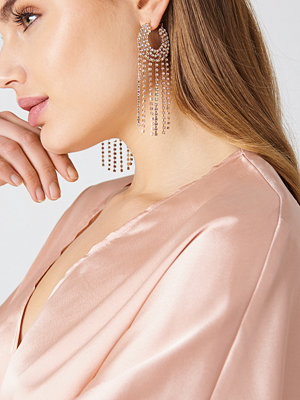 NA-KD Accessories smycke Sparkling Hoop & Chain Earrings