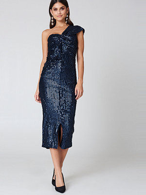 Lavish Alice Velvet Sequin Twisted Dress