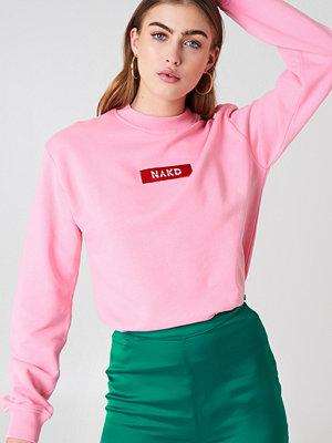 NA-KD NA-KD Logo Sweater rosa