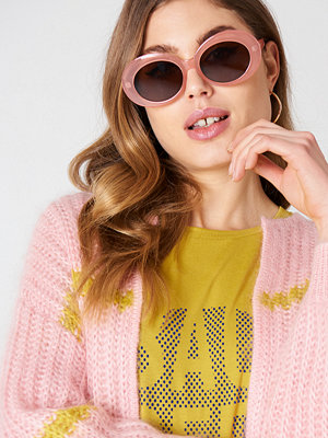 NA-KD Accessories Oval Sunglasses rosa