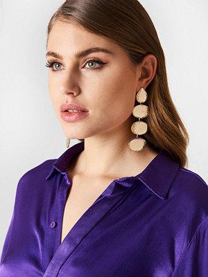 Tranloev smycke Multi Hanging Structured Earrings guld