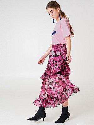 NA-KD Trend Asymmetric Flounce Skirt