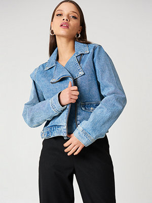 NA-KD Denim Biker Jacket