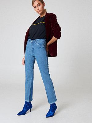 NA-KD Inseam Gusset Denim Jeans