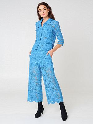 Twinset himmelsblå byxor Pantalone Macrame Pants