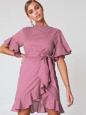 Josefin Ekström for NA-KD Wrap Skirt Flounce Sleeve Dress