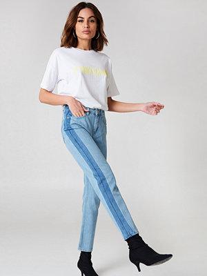NA-KD Side Panel Jeans