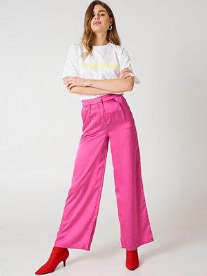 Glamorous rosa byxor Oversized Satin Trousers