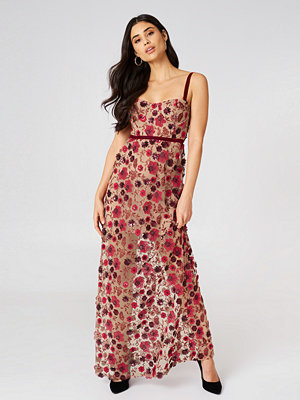 For Love & Lemons Beatrice Strappy Maxi Dress