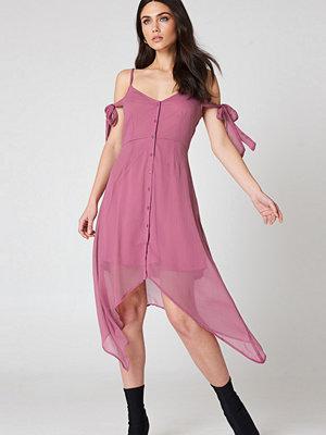 NA-KD Boho Knot Detail Midi Dress