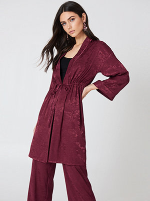 NA-KD Trend Jacquard Satin Kimono