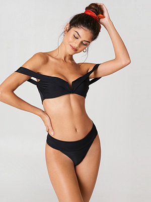 J&K Swim x NA-KD Folded Bikini Panty svart